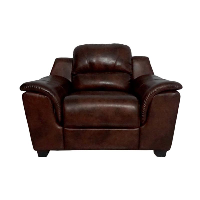 Aim Living Unique 1 Seat Sofa - Cinnamon