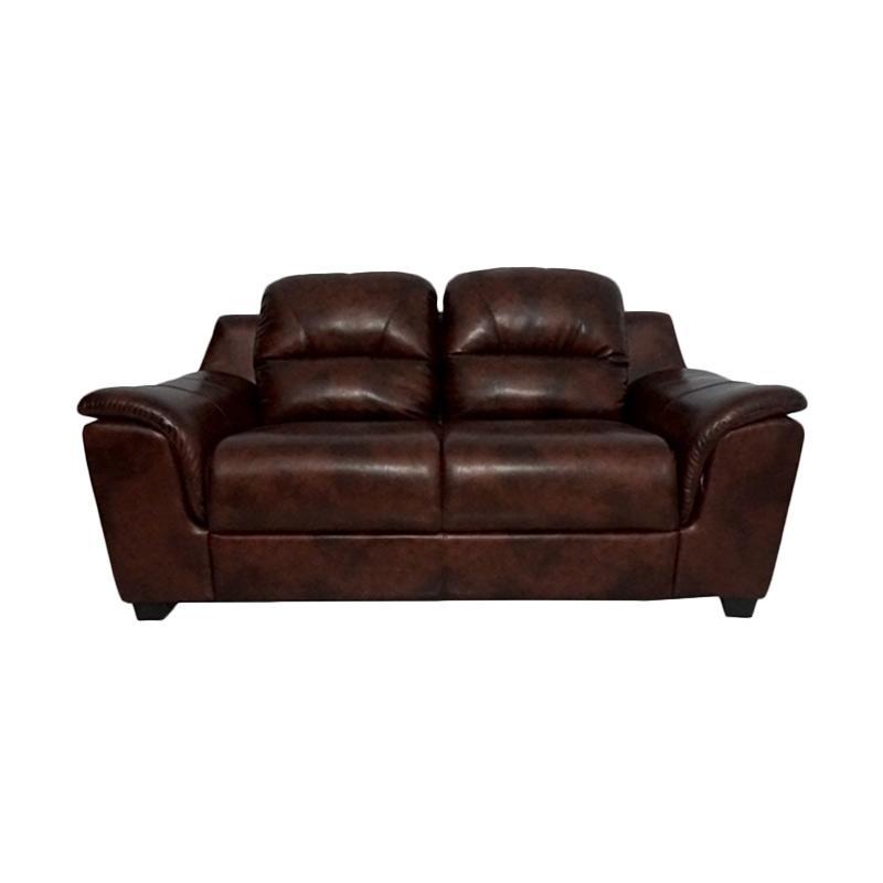 Aim Living Unique 2 Seat Sofa - Cinnamon