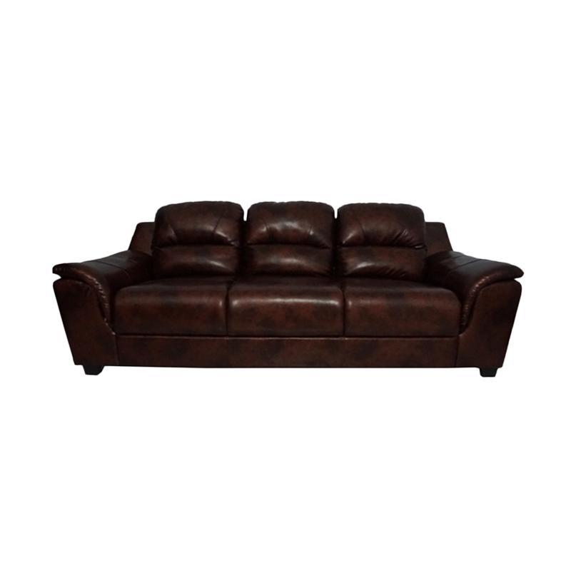 Aim Living Unique 3 Seat Sofa - Cinnamon