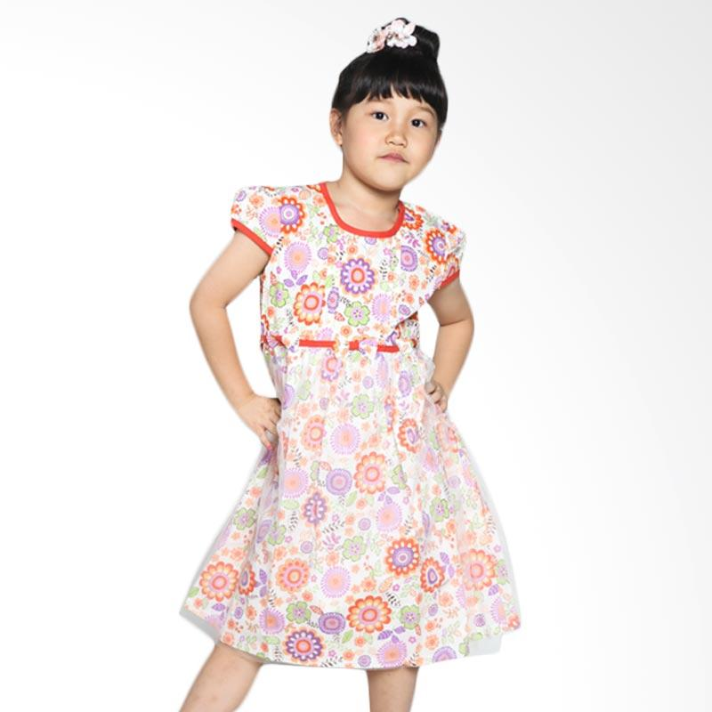 4 You Tile Dress Anak - Orange