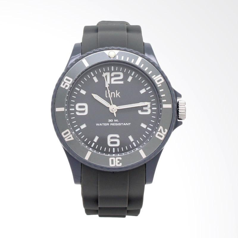 Linkgraphix Link Solid LSL02 Jam Tangan Unisex Pria / Wanita - Grey
