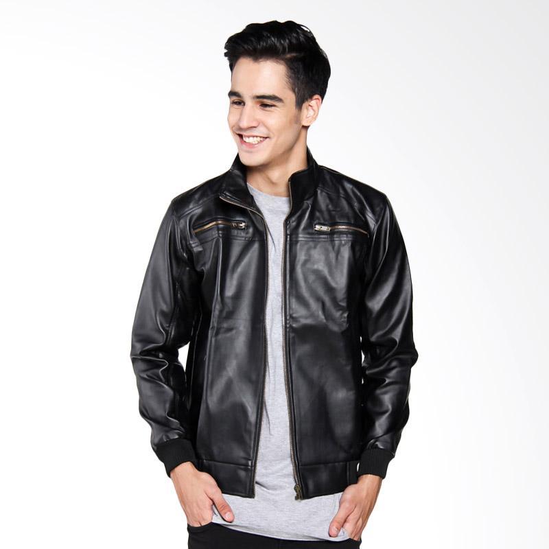 Bafash Leather Jaket Pria - Black