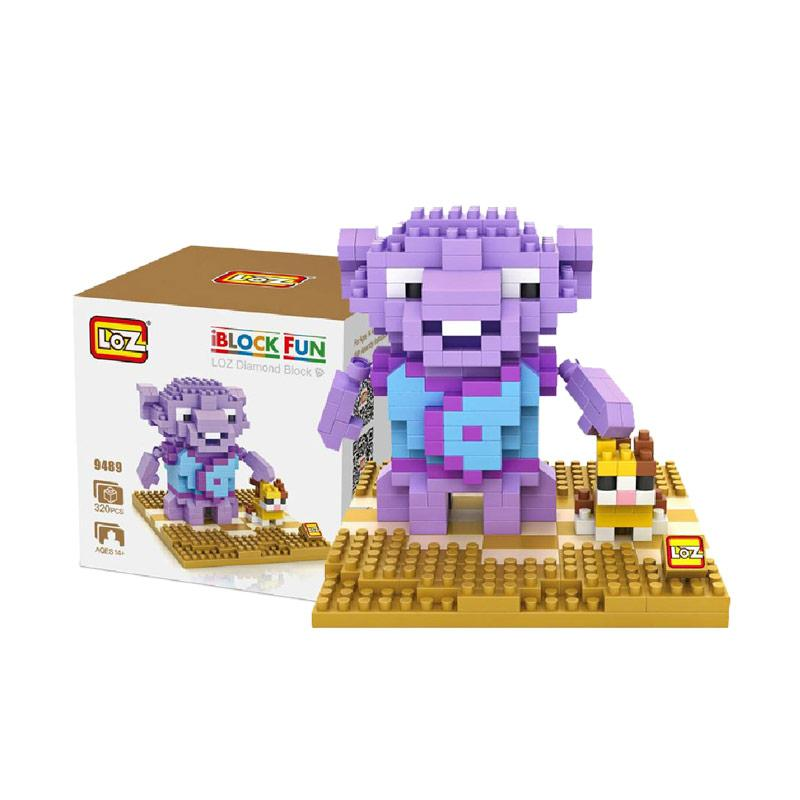 Loz Diamond Block 9489 Monster Mainan Mini Blocks - Ungu