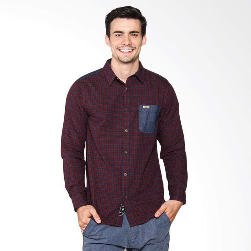 Famo Patch Classic Shirt Kemeja Pria - Red 507041711