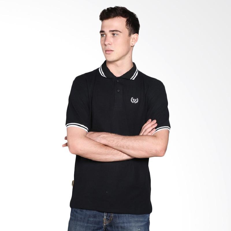 HEMMEH Kaos Polo Pria - Hitam Extra diskon 7% setiap hari Extra diskon 5% setiap hari