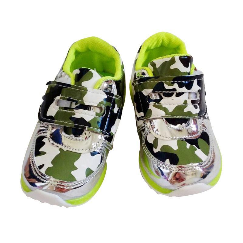 harga Yan Yu Yan LED Army Sepatu Anak - Green Blibli.com