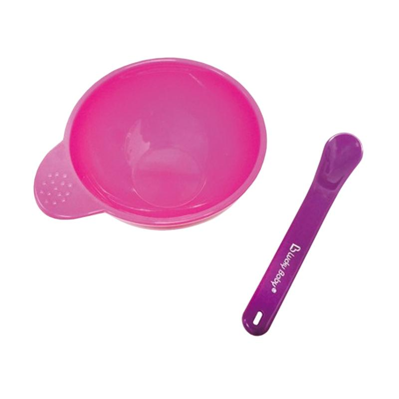 Lucky Baby Easy Grip Bowl with Spoon Peralatan Makan Bayi