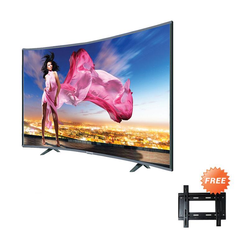 harga Ichiko S3998 HD Curve Basic Televisi LED [39 Inch] +  Free Bracket Blibli.com