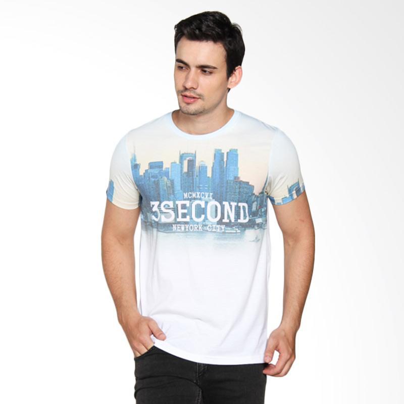 3 Second 134121612 Men Tshirt - White