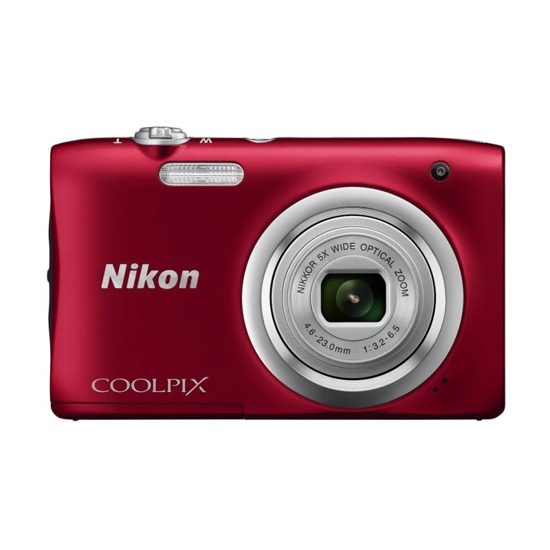 Nikon Coolpix A100 Kamera Pocket - Red + Free LCD Screen Guard