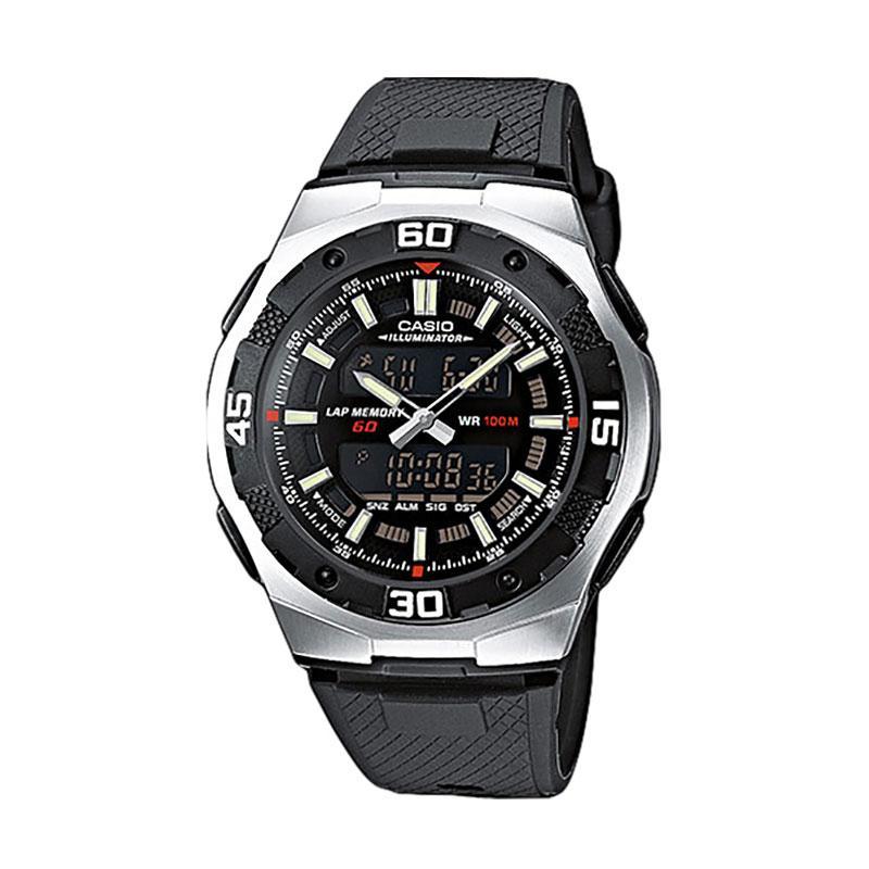 CASIO Jam Tangan Pria AQ-164W-1AVDF - Black Silver