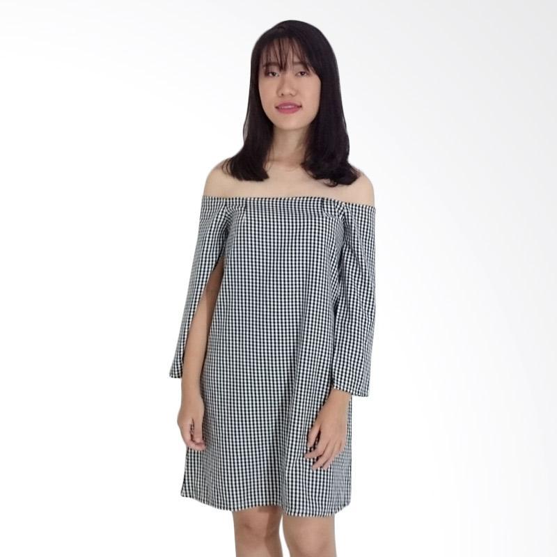 Kulo Plaid Sabrina Cape Dress