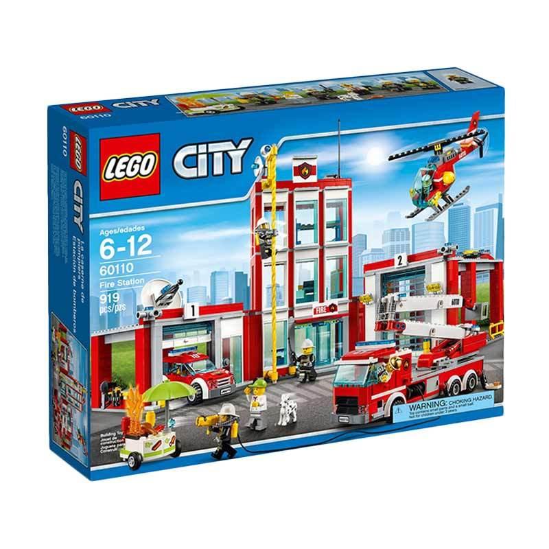 LEGO 60110 Fire Station Mainan Blocks