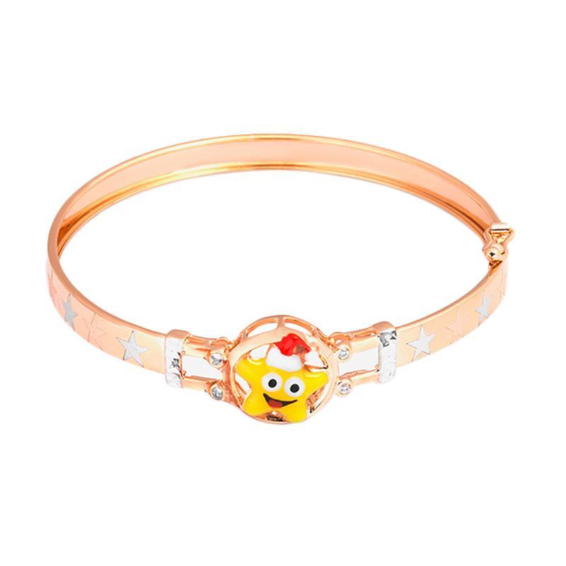 Yellow Star Gold Kids Bangle - Gelang Emas Anak Kadar 37,5