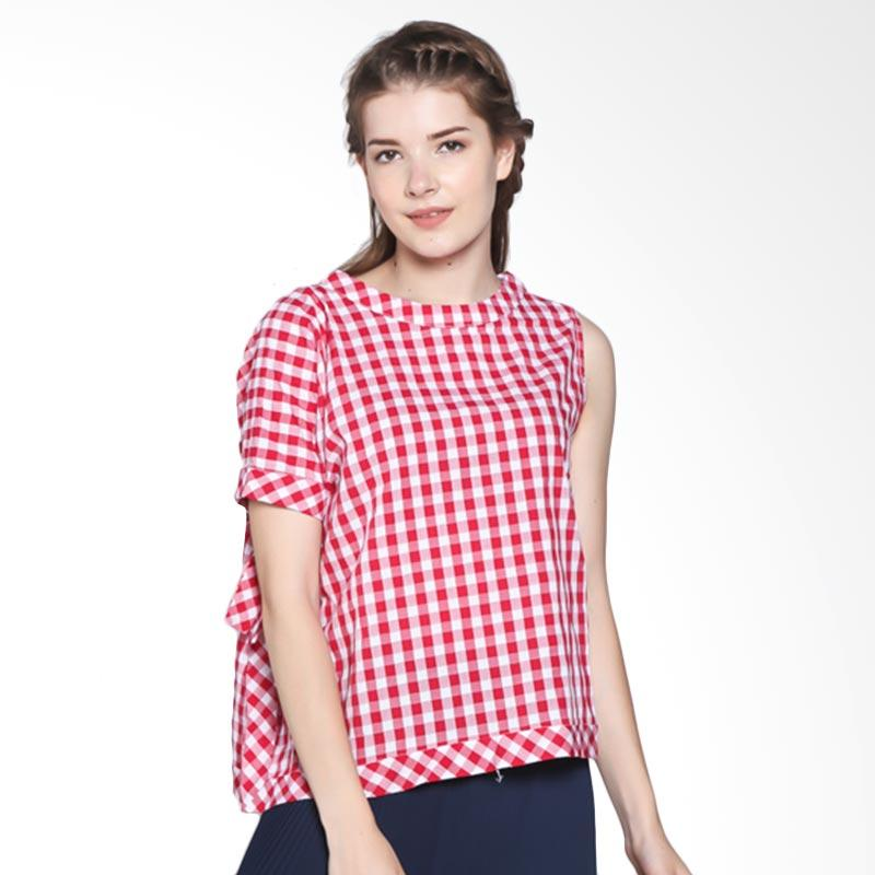 Rodeo Motif 817.0405.RED Blouse - Red