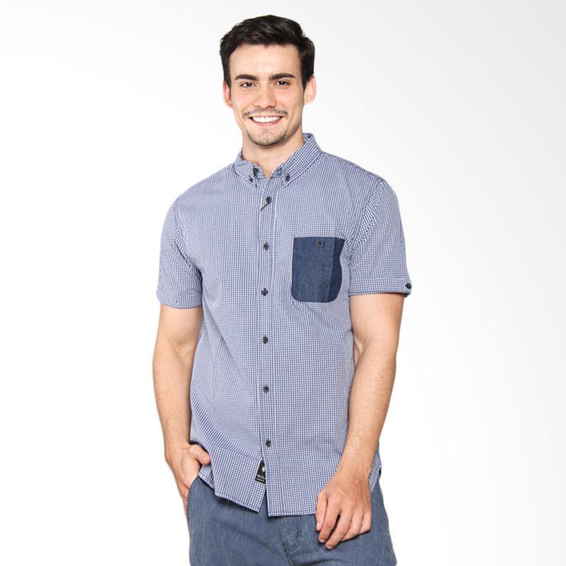 Famo Patch Pocket Shirt Kemeja Pria - Blue 511041711
