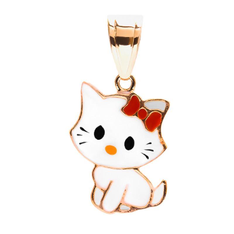 Kitty Gold Kids Pendant - Liontin Emas Anak Kadar 37,5