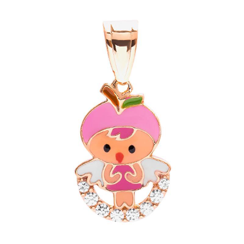 Pink Gold Kids Pendant - Liontin Emas Anak Kadar 37,5
