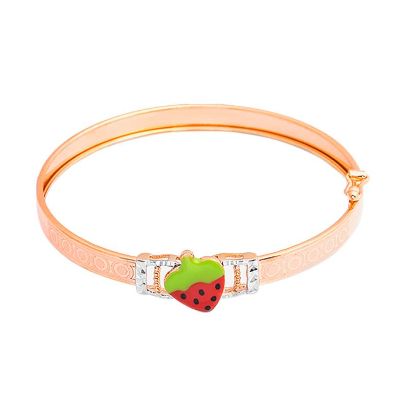 Strawberry Gold Kids Bangle - Gelang Emas Anak Kadar 37,5