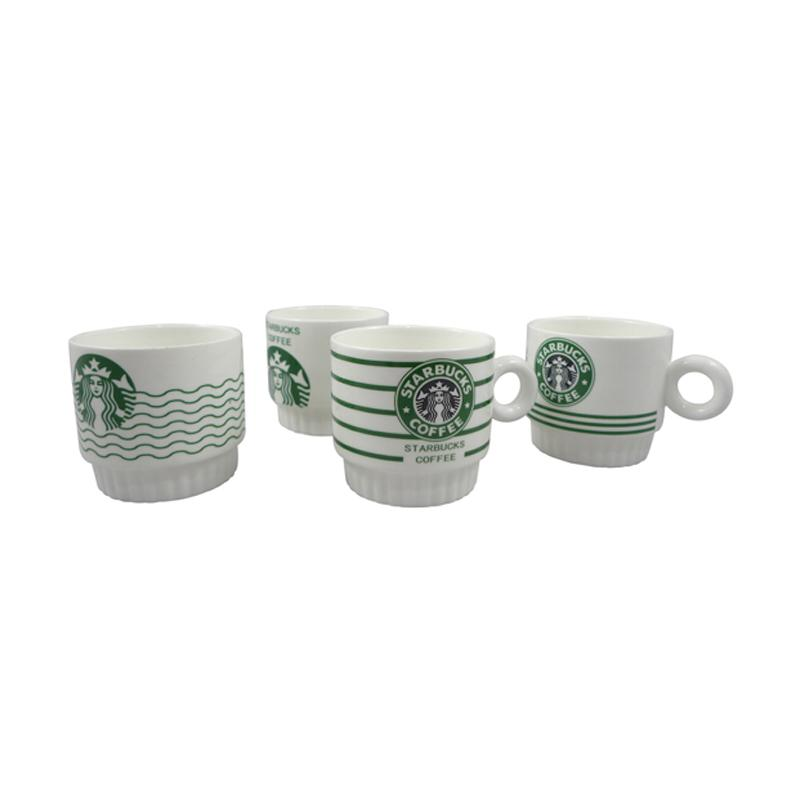 Hermosa Home Decor Gelas Susun Starbuck Mug Set