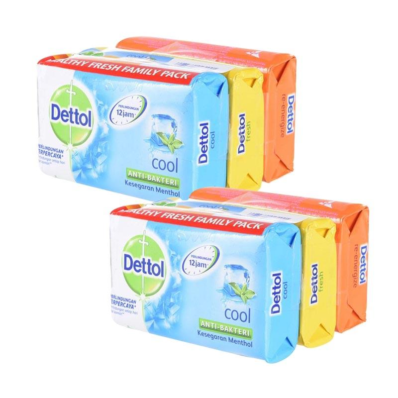 Dettol Family Pack Bar Soap Sabun Mandi Batang [65 g/ 3 Pcs/ Bundle of 2]