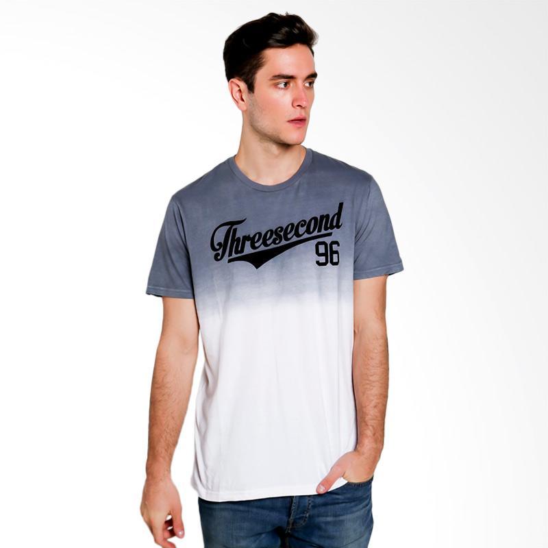 3SECOND Men T-shirt Atasan Pria - Grey [3111 131111712]