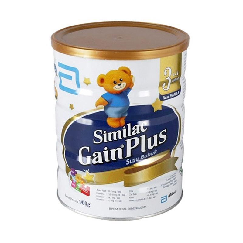 Similac Gain Plus Susu Formula - Vanila [900 g]