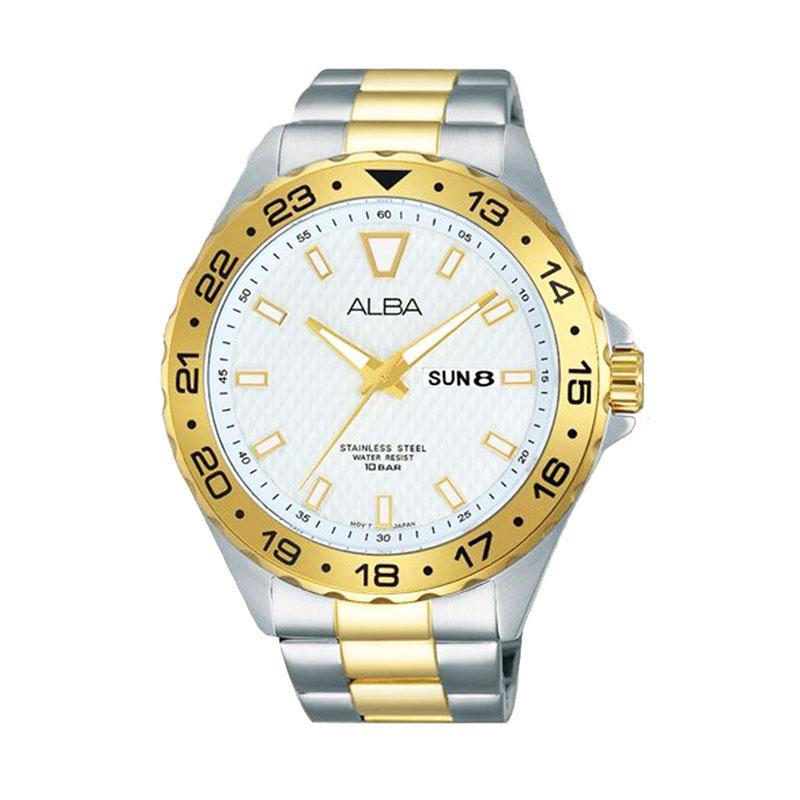 Alba AV3512 Jam Tangan Pria - White Gold