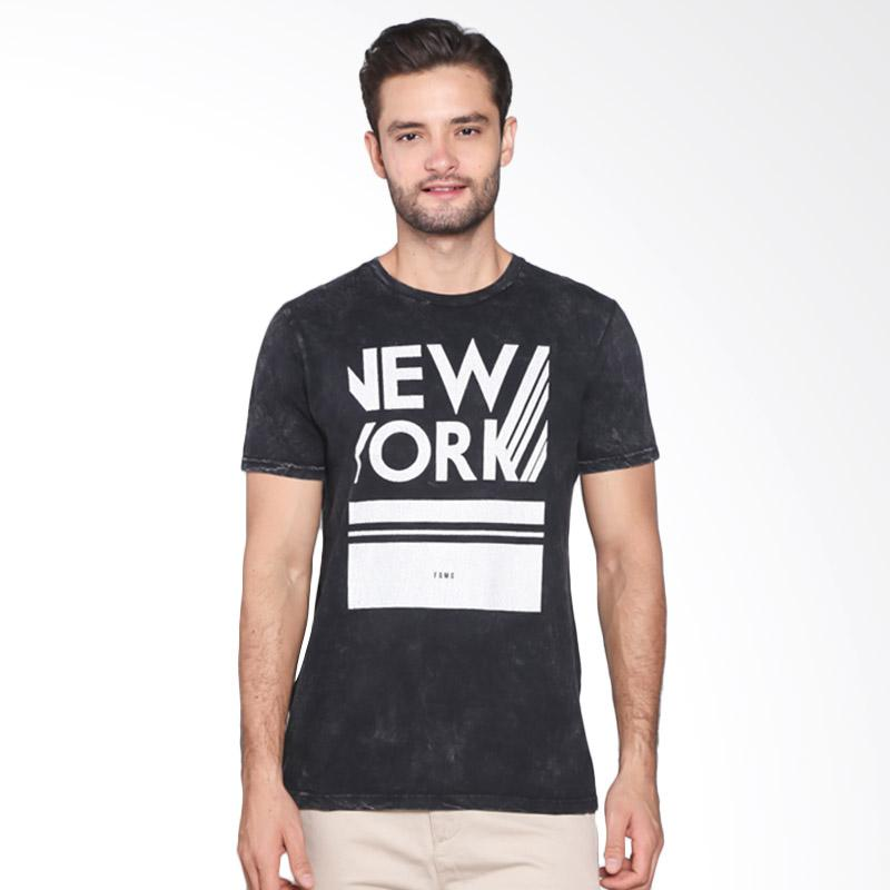 Famo Printed Relaxed Tee 517041712 - Black