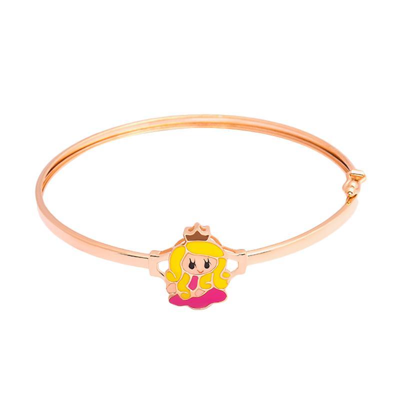 Princess Pink Gold Kids Bangle - Gelang Emas Anak Kadar 37,5