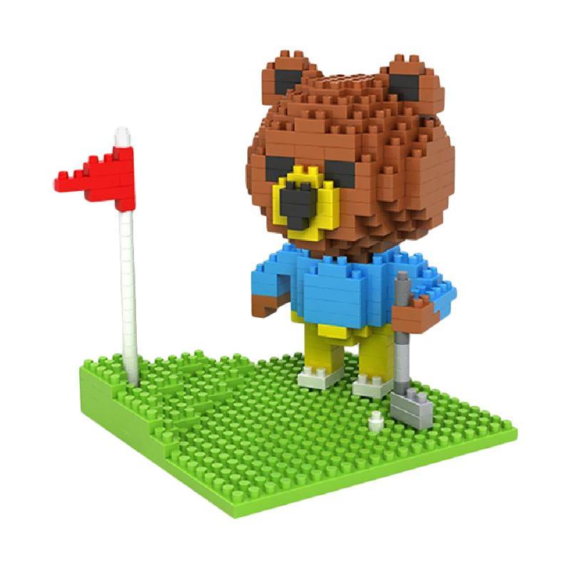 LOZ 9427 Brown Golf Mini Blocks