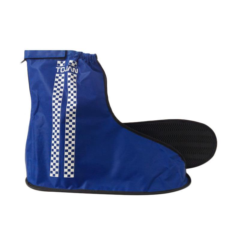 harga TOJAN Cover Sepatu Jas Hujan - Biru Blibli.com