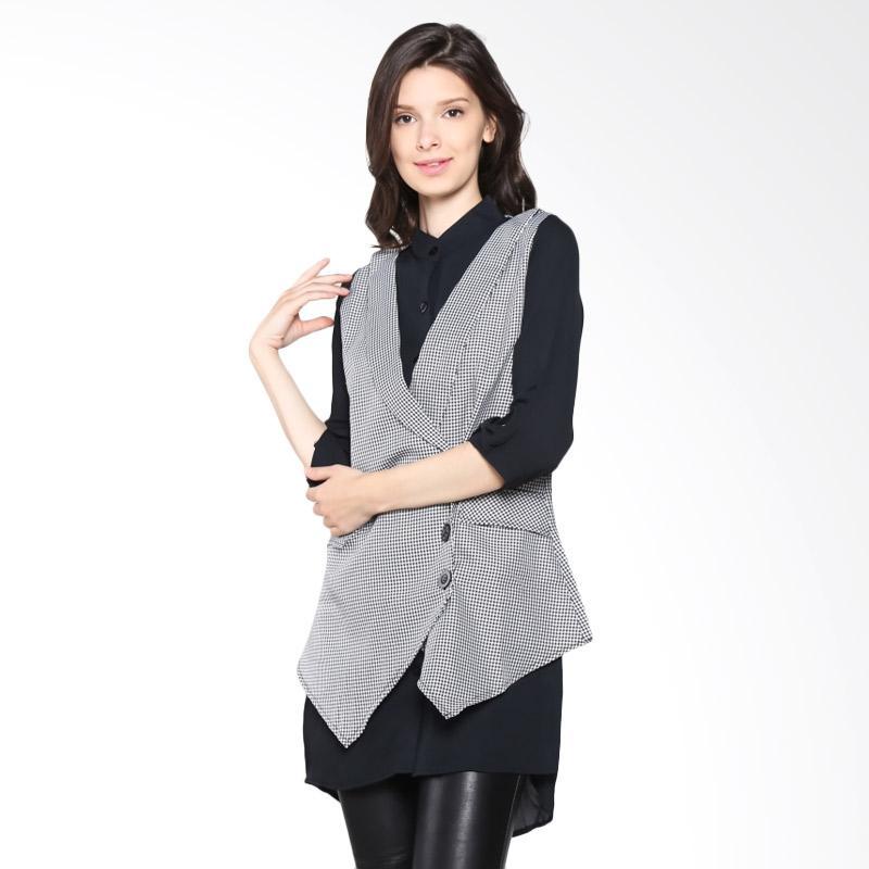 Carte Blouse With Vest - Black