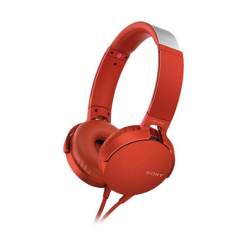 Sony MDR-XB550AP Headset - Merah