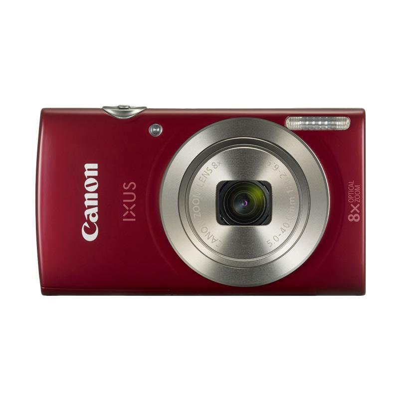 Canon IXUS 185 Kamera Pocket - Red + Free LCD Screen Guard