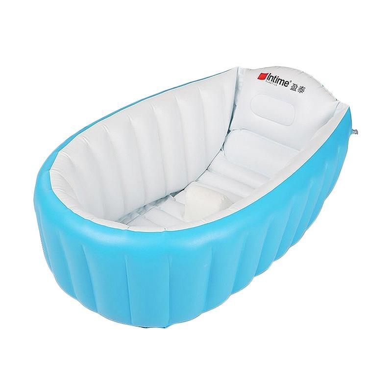 Intime Baby Bath Tempat Mandi Bayi & Balita Aman & Nyaman ++ Pompa Manual