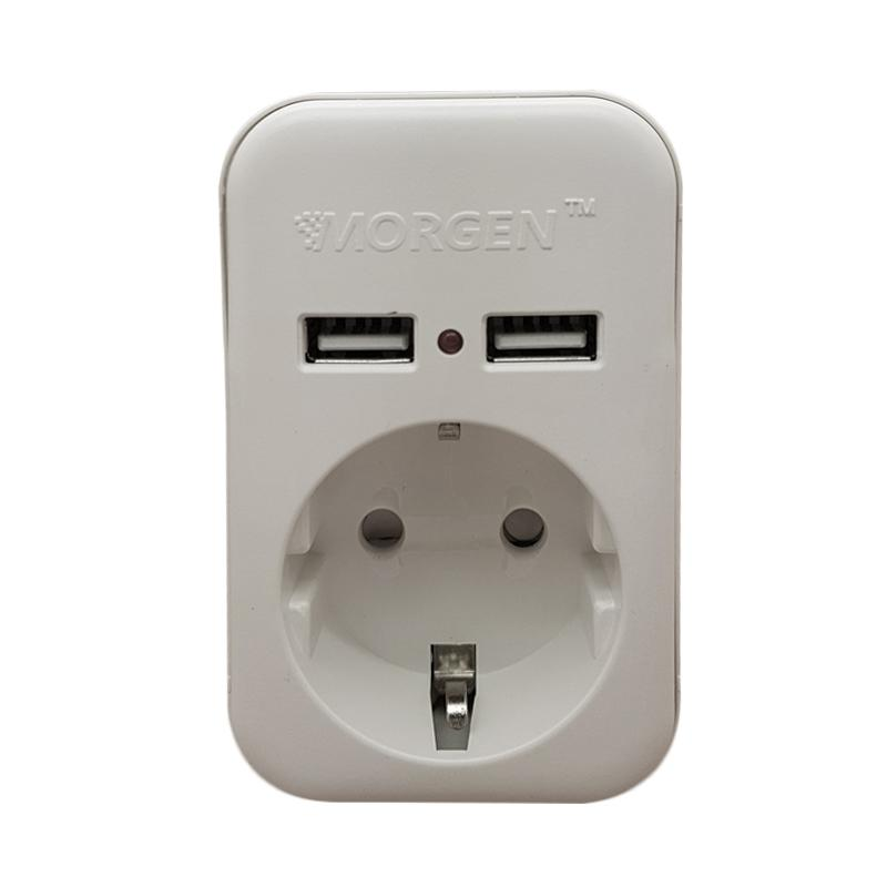 Morgen MG630-U Mini Stop Kontak with USB Port