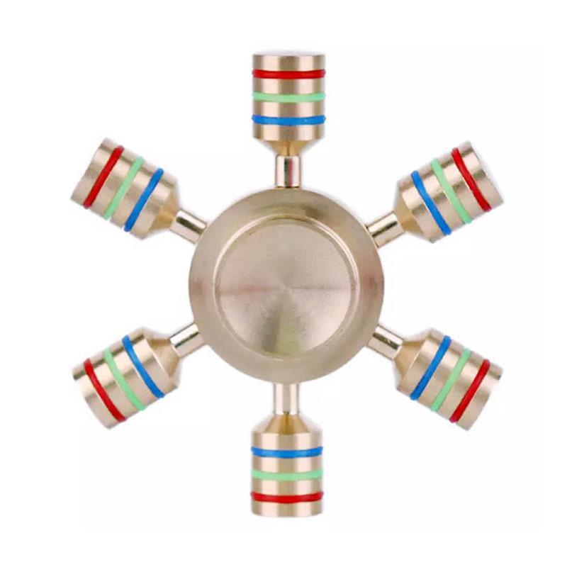 Tokokadounik HomeSix Sided Metallic Fidget Spinner