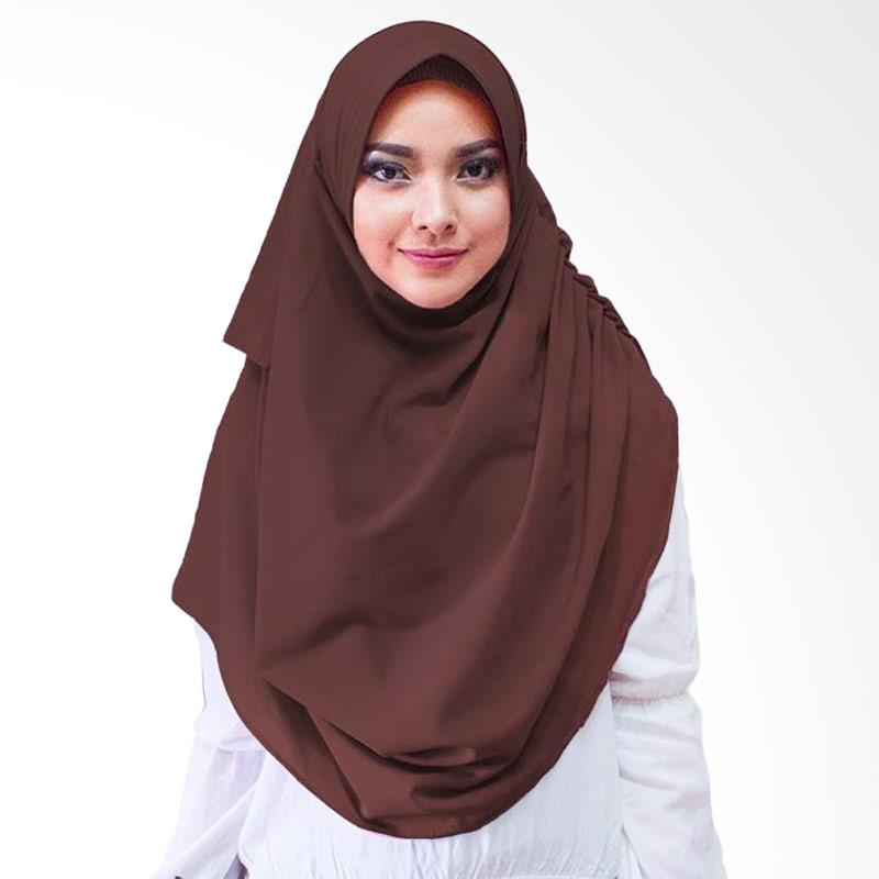 Milyarda Hijab Dravia Jilbab Instan - Coklat