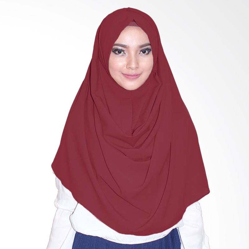 Milyarda Hijab  Emily Jilbab Instan - Maroon