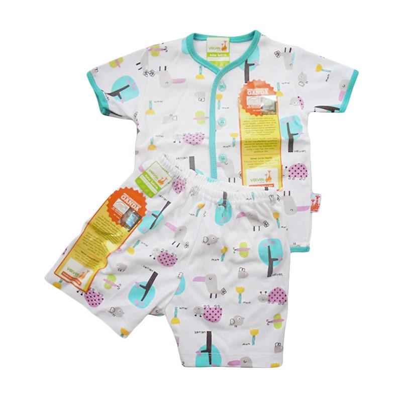 Velvet Junior Motif Tucano Paket Setelan Kancing Depan Newborn Setelan Anak - Tosca