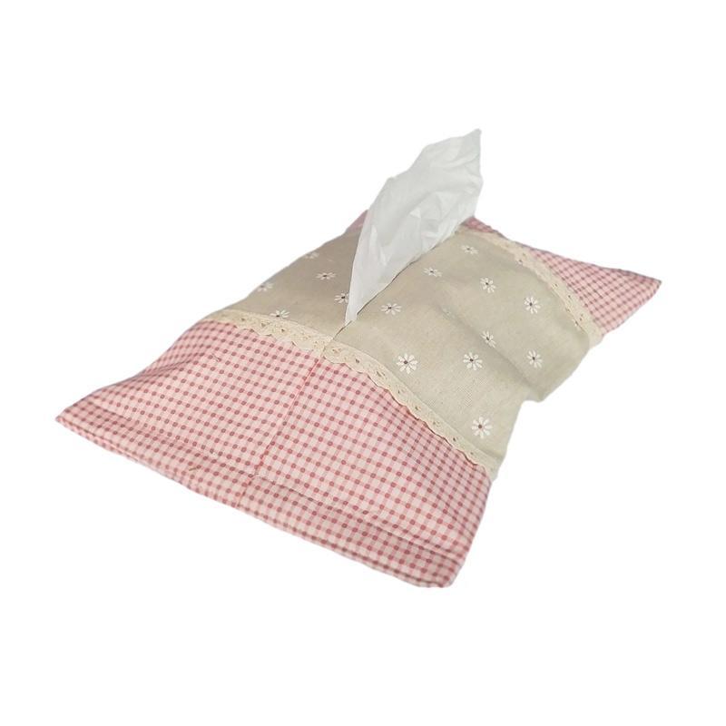 Tren-D-home Tissue Box Printed Tempat Tisu - Cream Pink [35 cm x 22 cm]