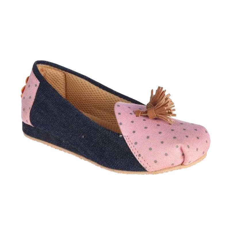 Caute Moccasin with Tassels Sepatu Anak Perempuan - Pink