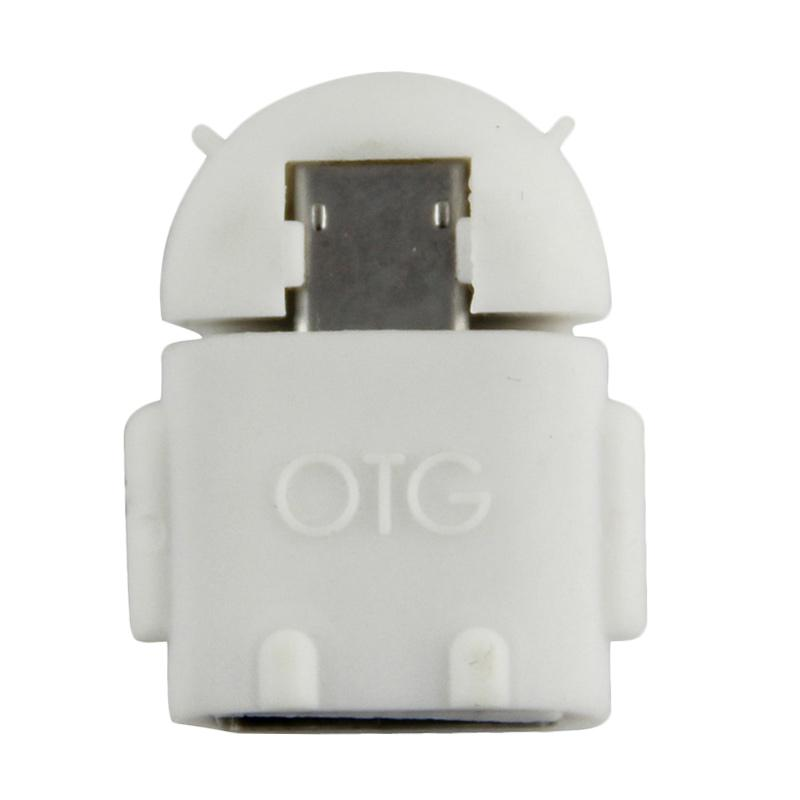 OTG Android Robot USB Adapter - White