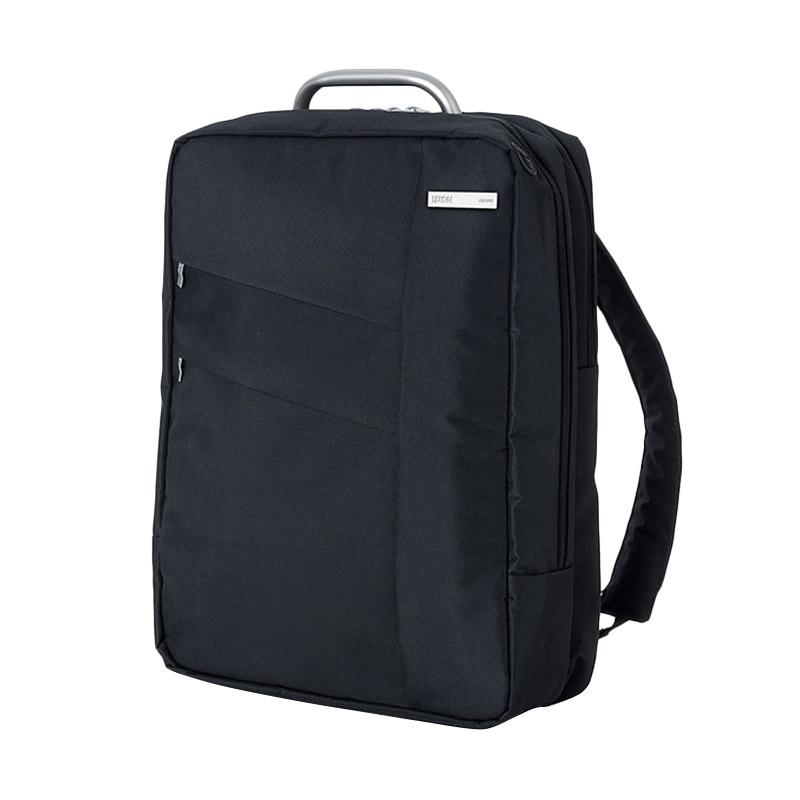 Lexon Airline Double Backpack Tas Pria - Well Black