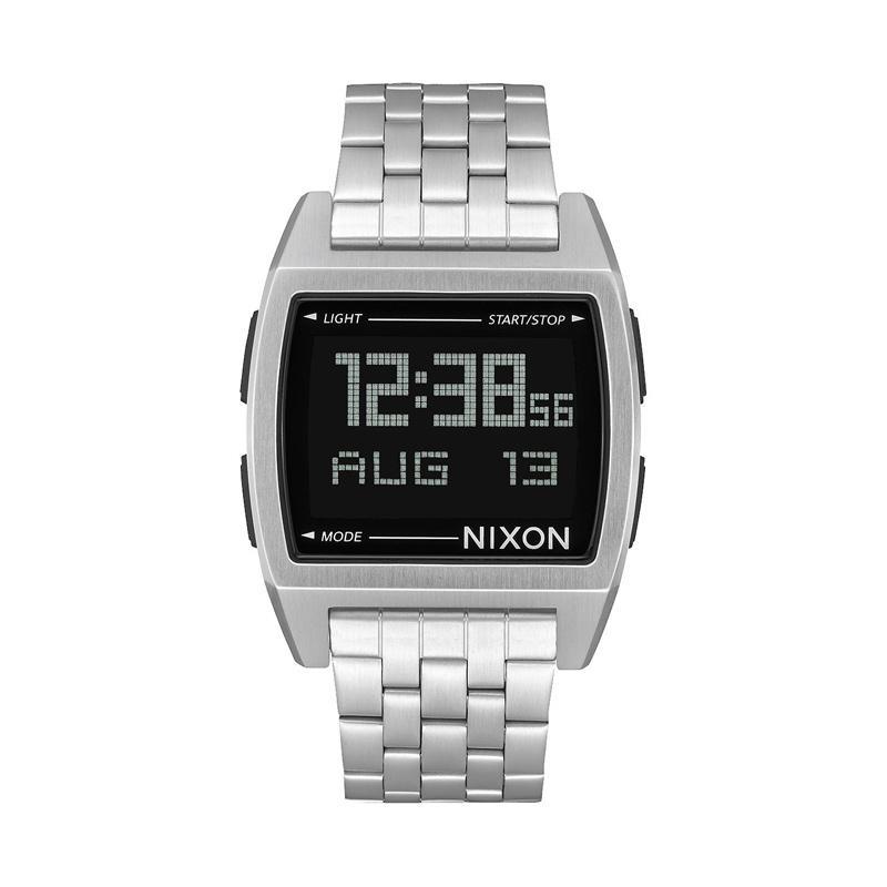 Nixon Base Digital Jam Tangan Pria A1107000 - Silver
