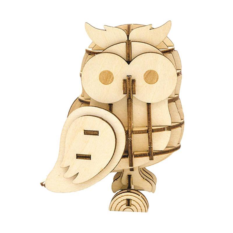 Kigumi Owl Puzzle Kayu 3D