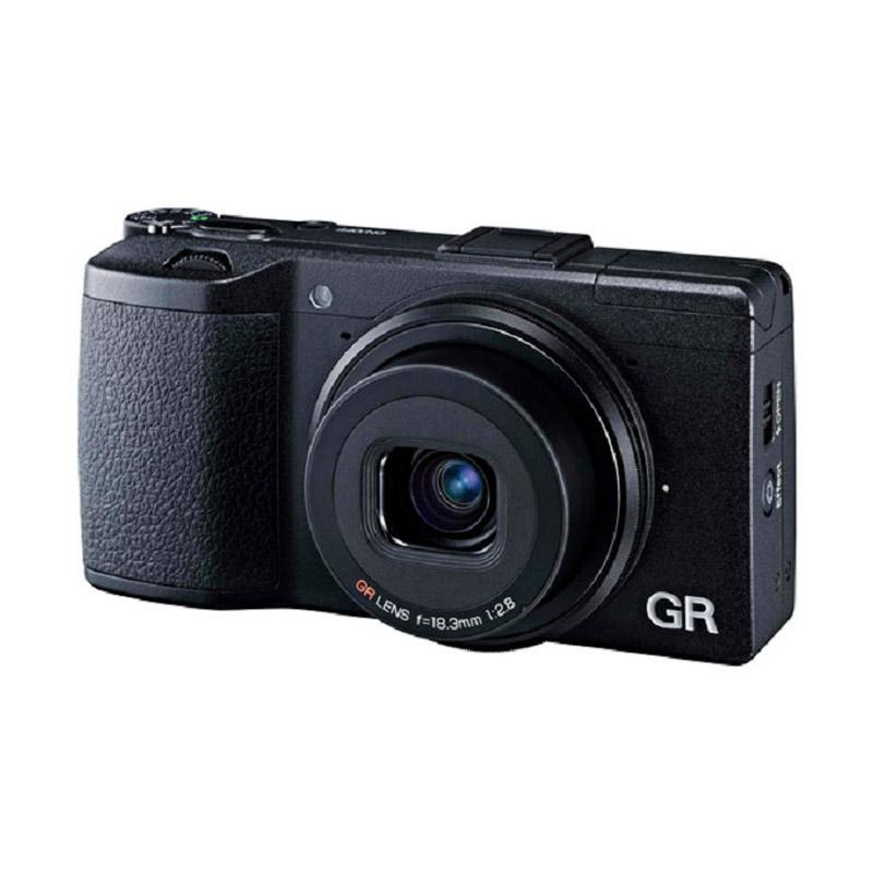 KTF Ricoh GR II Digital Kamera Pocket fujishopid Hitam FREE LEATHER CASE ADAPTER HOOD