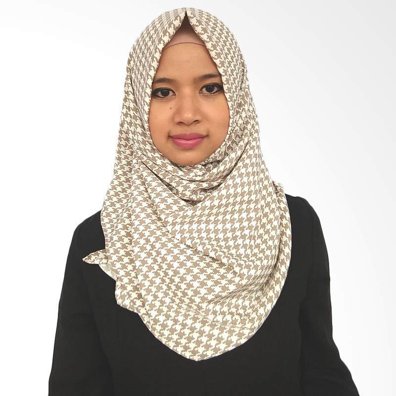 LeeCuini Pasmina Kotak Hijab - Cream