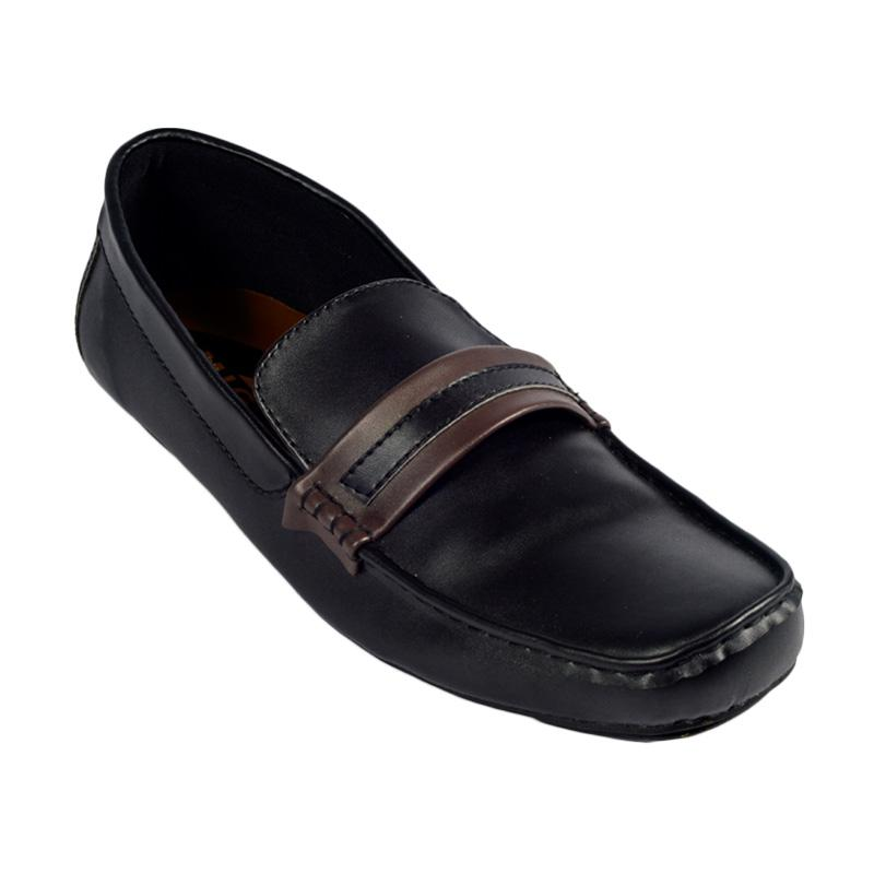 Trumph Eagle Moccasin Sepatu Pria - Black